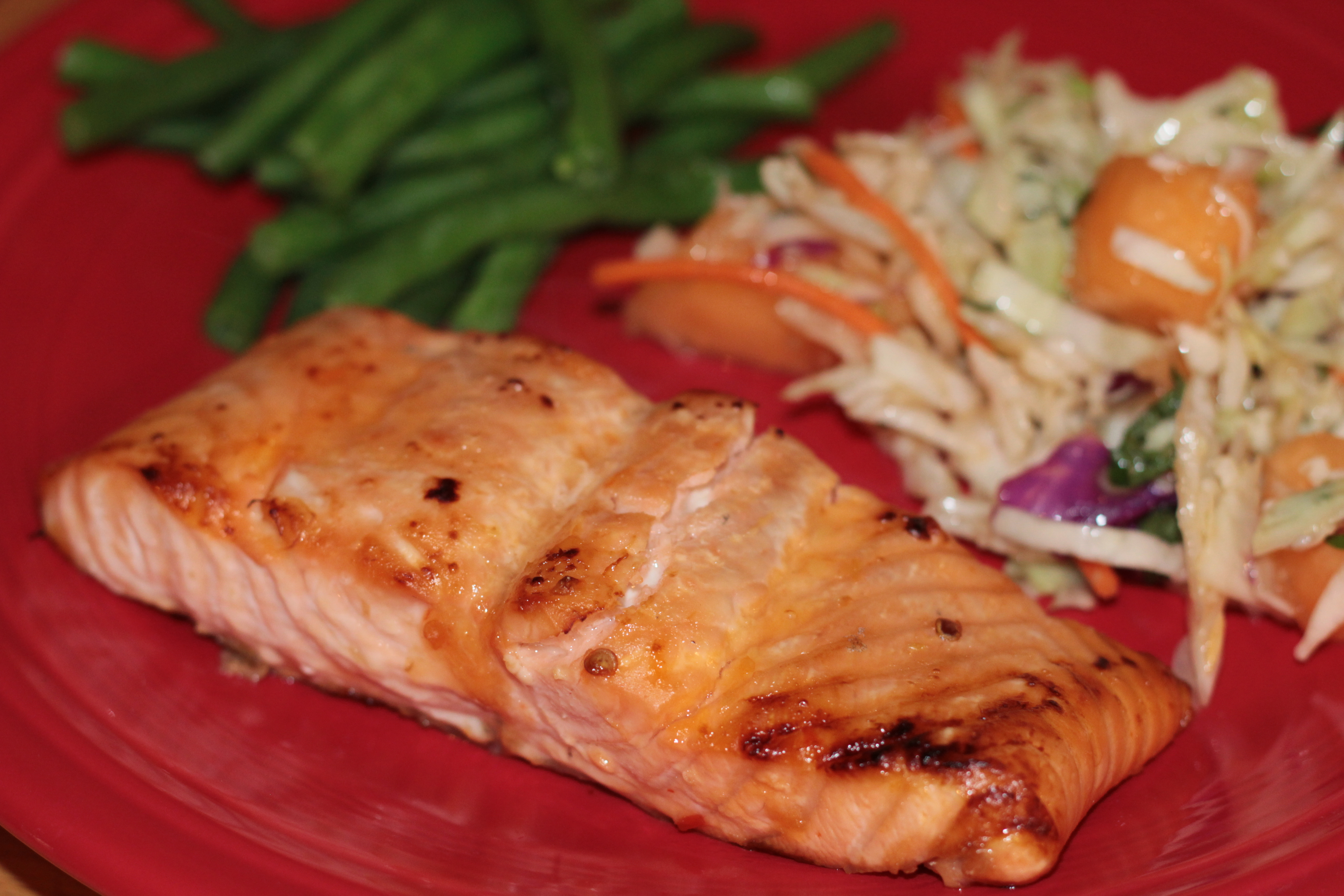 Broiled Salmon with Chili Lime Glaze | Hollie's Hobbies