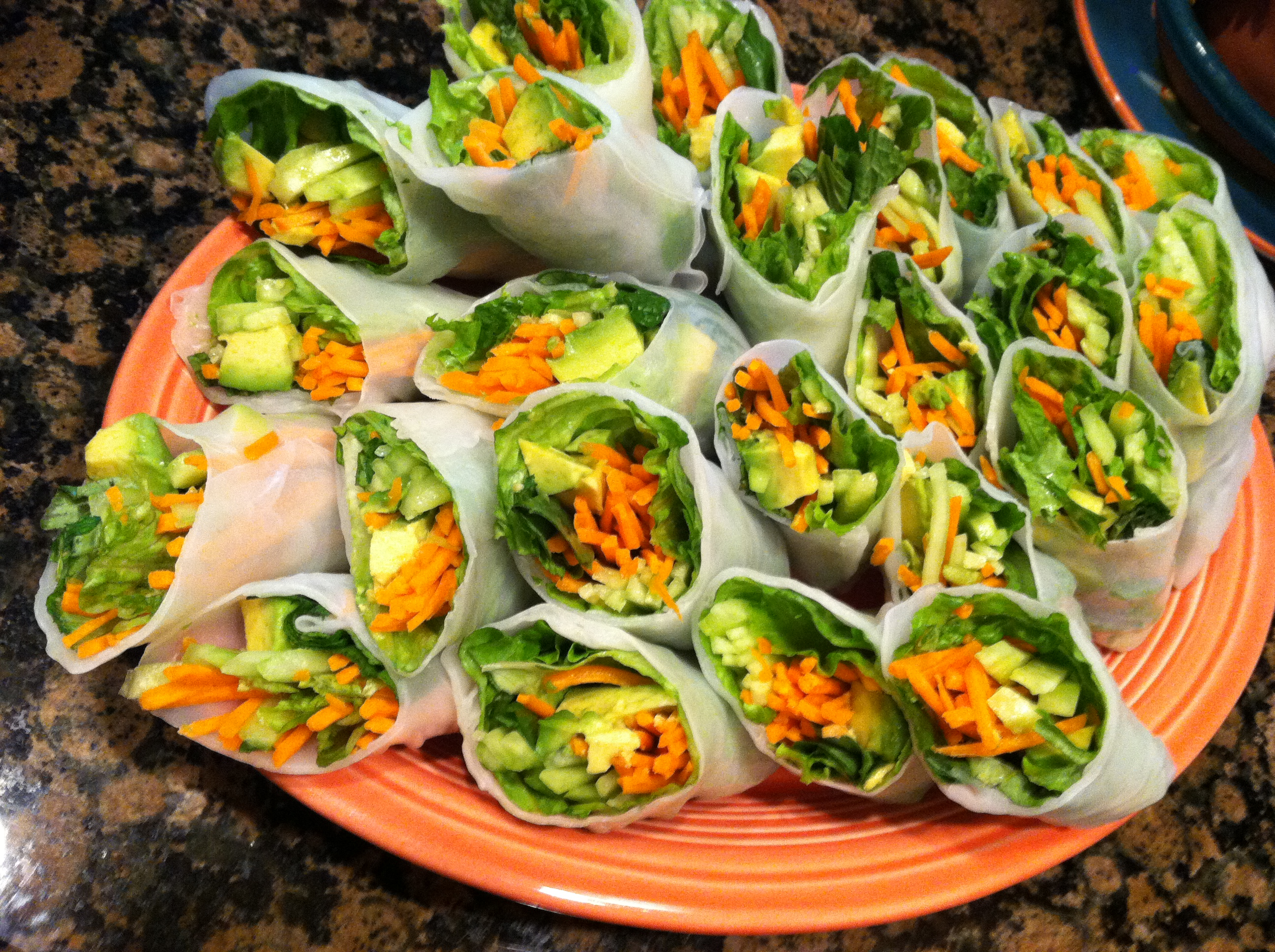Pinspired: Cucumber and Avocado Summer Rolls | Hollie's Hobbies