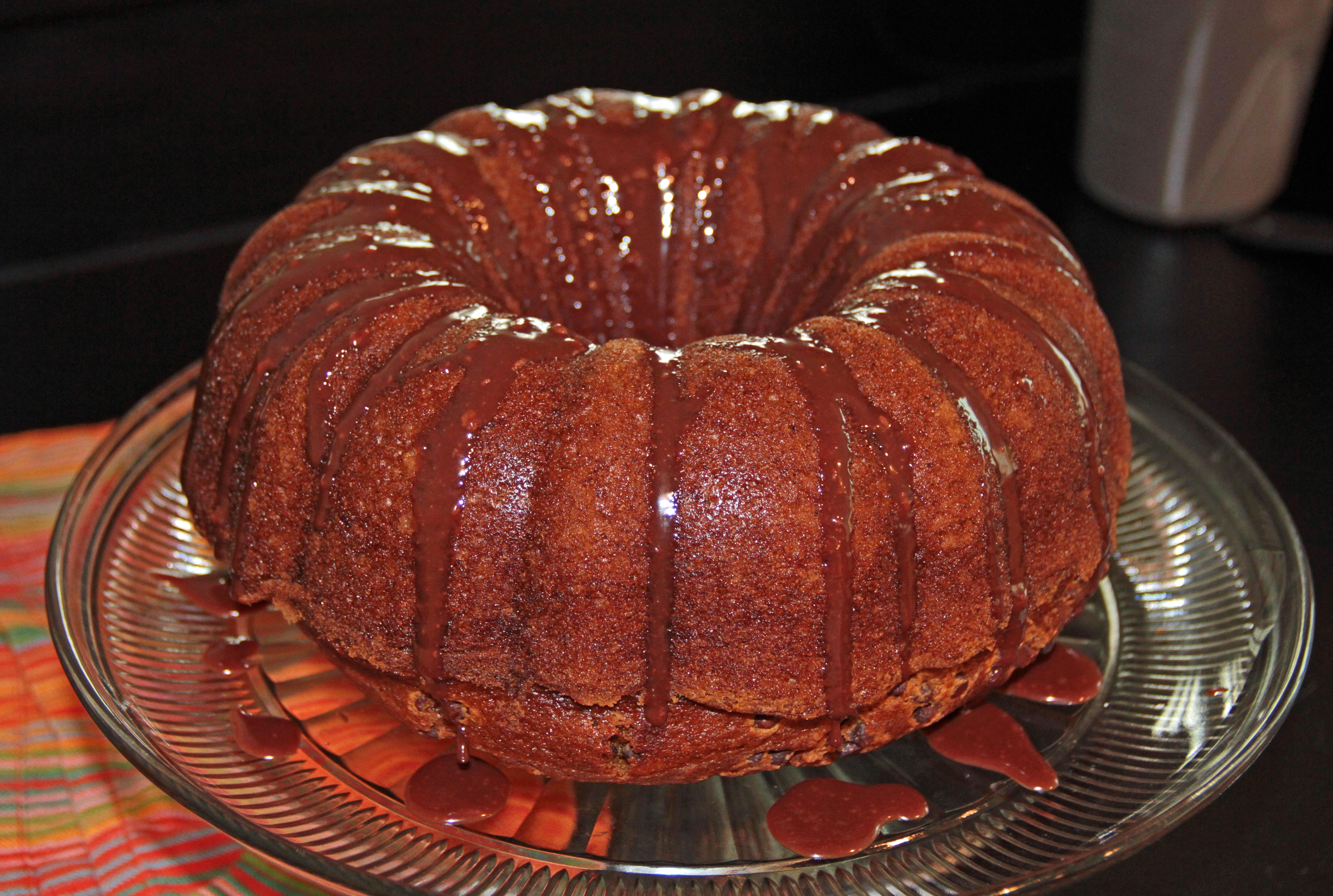 Pumpkin Bundt Cake with Nutella Glaze | Hollie's Hobbies