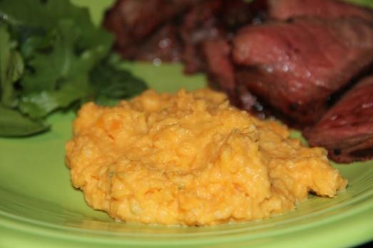Creamy Mashed Sweet Potatoes with Jalapenos
