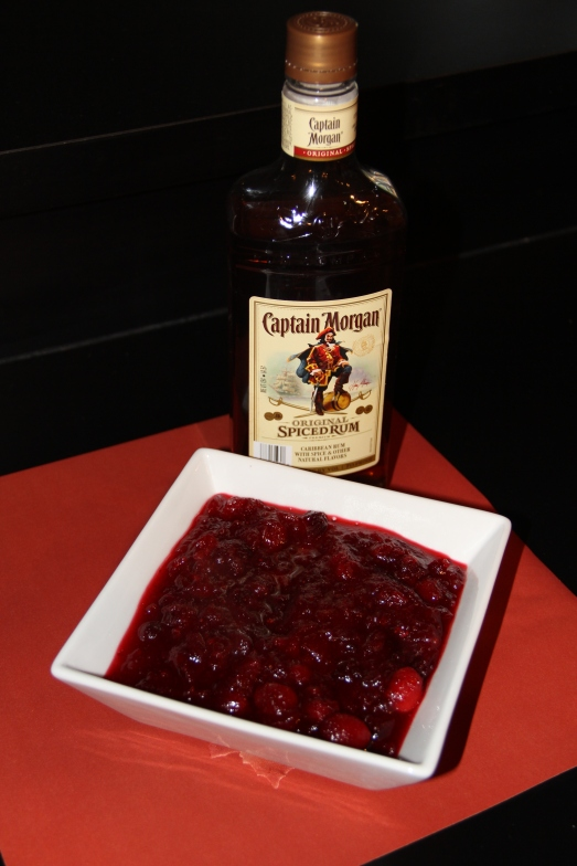 Spiced Rum Cranberry Sauce