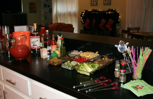 Bloody Mary Christmas Bar