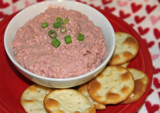 Beet and Blue Cheese Hummus