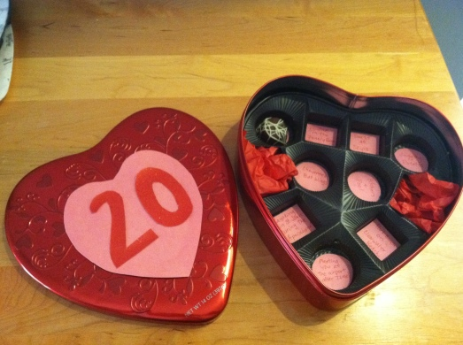 Valentine's Day Personalized Candy Box
