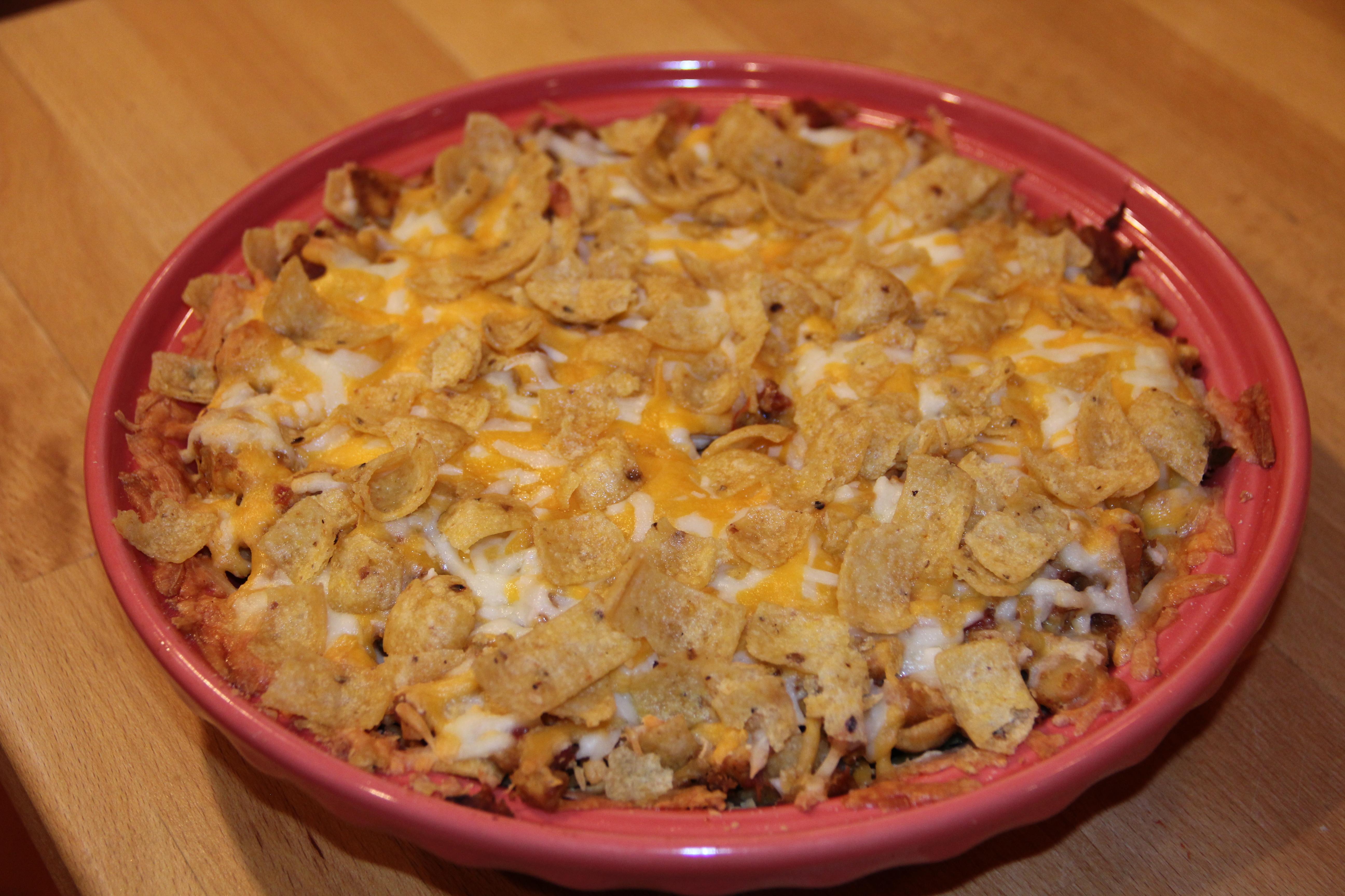 Pressure Cooker White Bean Chili Frito Pie Recipe — Dishmaps