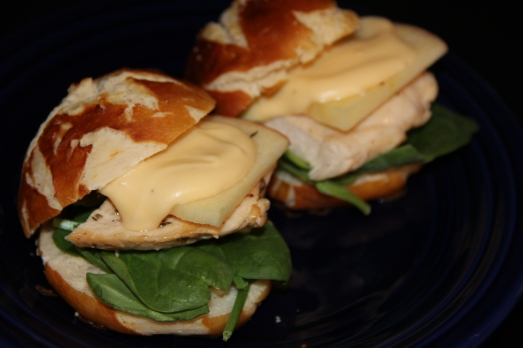 Chicken and Cheese Fondue Sandwiches