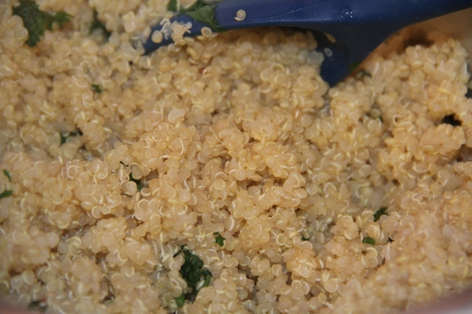 quinoa cooked in a rice cooker