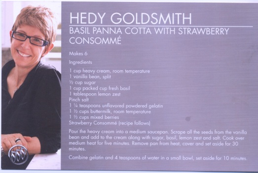 Hedy Goldsmith's Basil Panna Cotta
