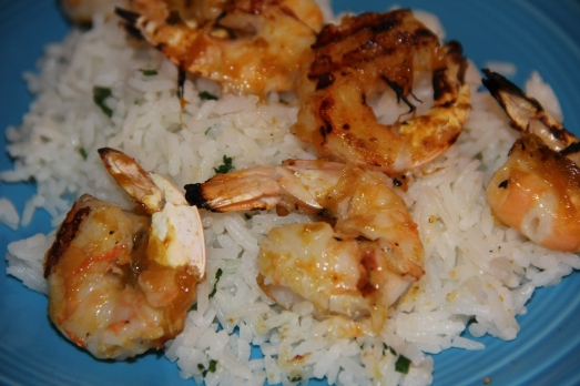 Shrimp with Mango Barbecue Sauce