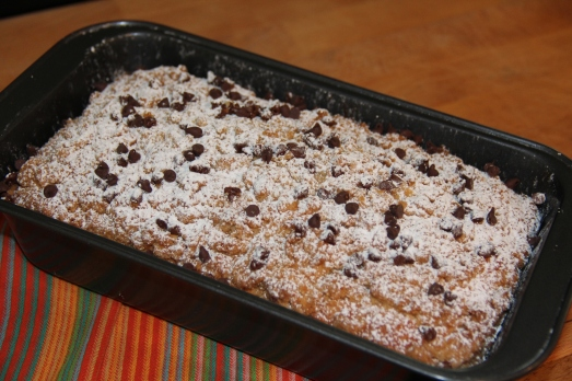 Chocolate Chip Crumb Cake Loaf