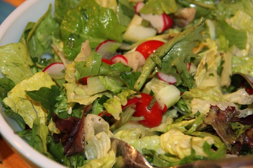 Herb Tossed Salad with Lemon Coriander Dressing