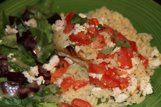 Greek Chicken with Tomatoes and Feta
