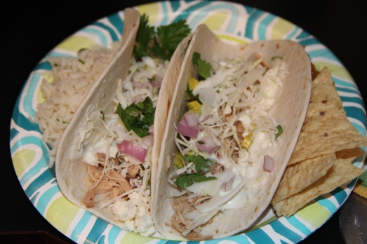 Shredded Chipotle Chicken Tacos