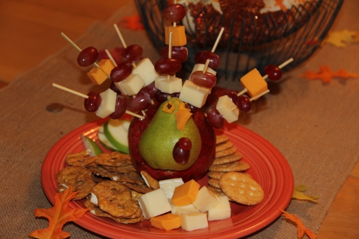 Turkey Fruit and Cheese Plate
