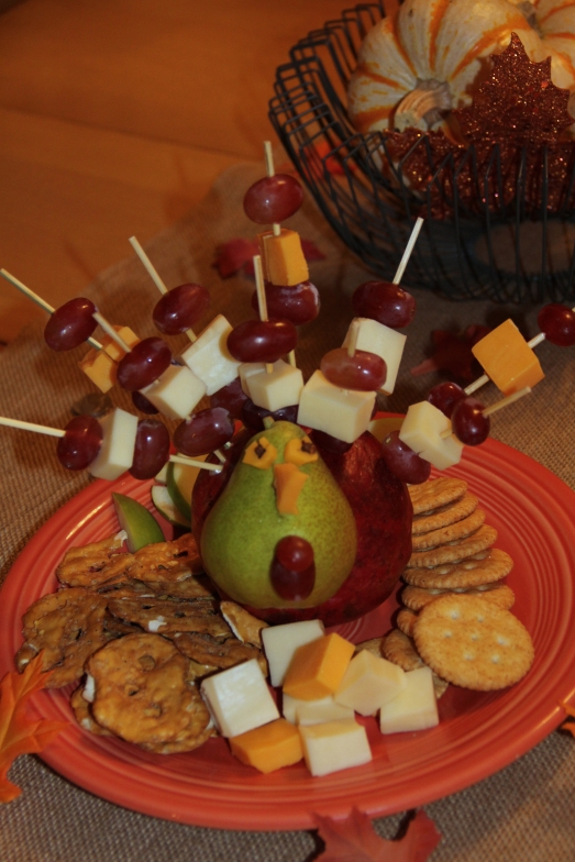 Turkey  Cheese and Fruit Plate