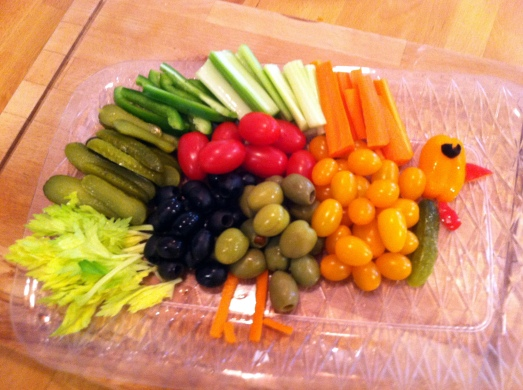 Thanksgiving Turkey Relish Tray