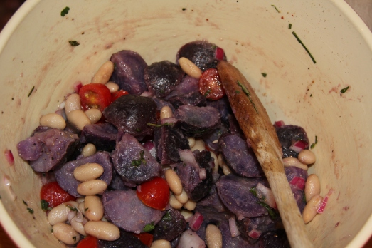 Purple Potato and Bean Salad