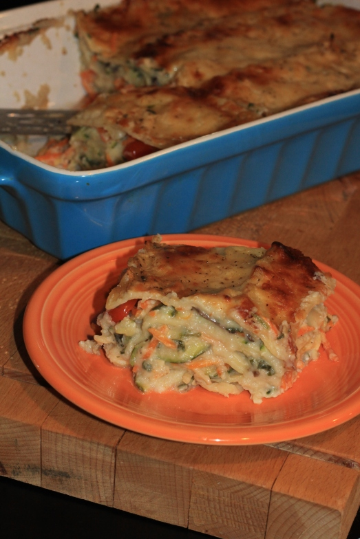 Vegetable Lasagna with Cauliflower Béchamel Sauce