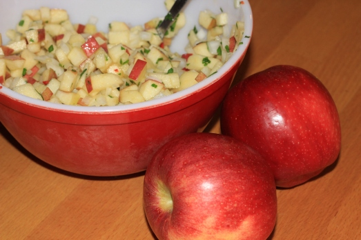 Fresh Apple Salsa great on top of pork or chicken